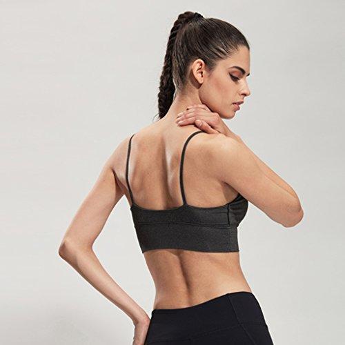 ny Thin Belt Running Gather Sans traces Sous-vêtements Vest-style en acier Sans choc Exercise Fitness Yoga Bra Gray