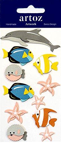 ine Fisch Craft Verzierung-Animal Scrapbooking Karte Aufkleber ()