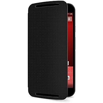 Coque Motorola Flip Shell pour Moto G 2ème génération - Noir