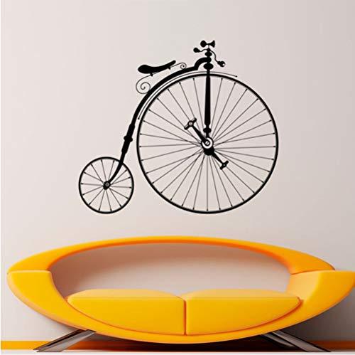 eber Hipster Wand Vinyl Aufkleber Sport Bike Home Schlafzimmer Dekor Wandbilder Retro Große Räder Fahrrad Dekorationen 42 * 48 Cm ()