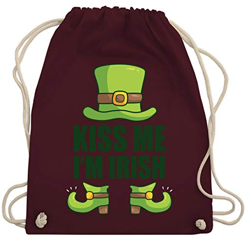 St. Patricks Day - Kiss me I'm Irish - Unisize - Bordeauxrot - WM110 - Turnbeutel & Gym Bag
