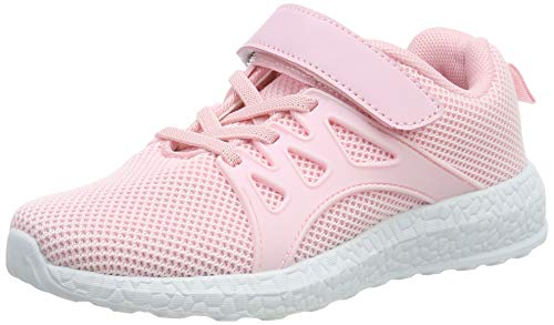 ZOCAVIA Jungen Mädchen Tennisschuhe Outdoor Sportschuhe Laufschuhe Sneaker Rosa 29 EU