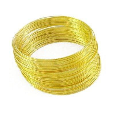 Finding For Jewellery Making Golden Memory Wire For Bracelets, Size 2.50 inch, Pack of 100 rows