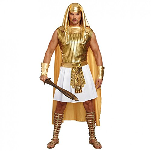 Dreamgirl Ägypter Kostüm Ramses, Gr. M, goldfarben, Pharao Fasching Antike Ägypten
