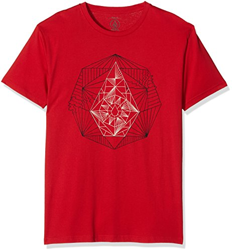volcom-t-shirt-homme-m-s-rouge
