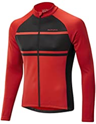 AIRSTREAM maglia a maniche lunghe in jersey., Uomo, Airstream Long Sleeve Jersey, Red / Black, M