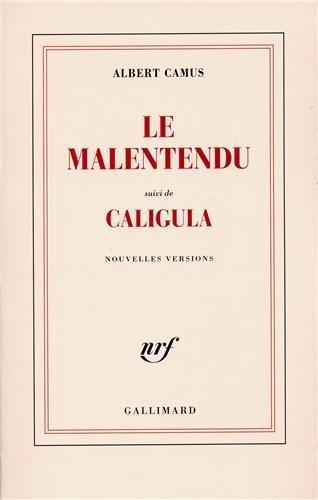 Le malentendu suivi de Caligula