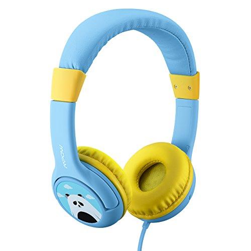 Mpow Kinderkopfhörer, Kabelgebundene On-Ear Kinder Headset, Stereo Kinder Kopfhörer mit Laustärkebegrenzung, SharePort und Mikrofon für iPad iPod iPhone Tablets Laptops Android Smartphones PC Computer. (Ipod-jugend)