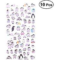 VORCOOL 10 unids DIY Lindo Pingüino de Dibujos Animados Adhesivo Pegatinas Decorativas Pegatinas para Scrapbooking Niños Craft Diario Álbum Calendarios Planificador