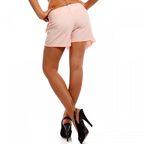 Damen Hotpants Hosenrock Shorts Rosa