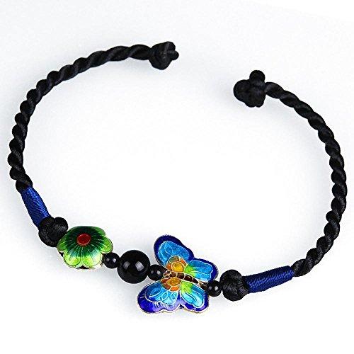 zhiming Handgemachte Accessoires Armband süßen Cloisonne Blume Schmetterling Ornament