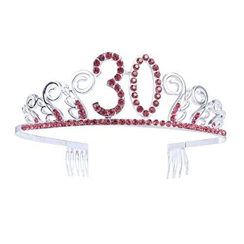 Frcolor Krone mit Haarkamm, Haarschmuck, Königin, Prinzessin, Party, 30. Geburtstag (Für 30. Ihr Geburtstag-dekorationen)