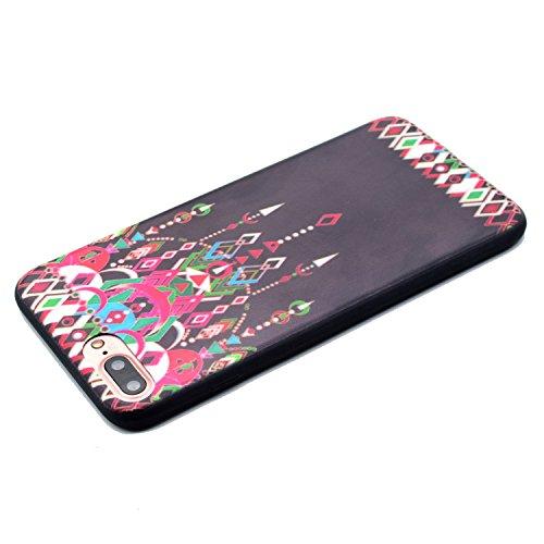 Voguecase® für Apple iPhone 7 Plus 5.5 hülle, Schutzhülle / Case / Cover / Hülle / TPU Gel Skin (Schwarz/mad here) + Gratis Universal Eingabestift Schwarz/Anhänger 01