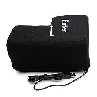HCFKJ  Relax, Big Enter Key USB Kissen Anti-Stress-Relief Super Größe Enter Schlüssel unzerbrechlich, 140 * 200mm (BK)