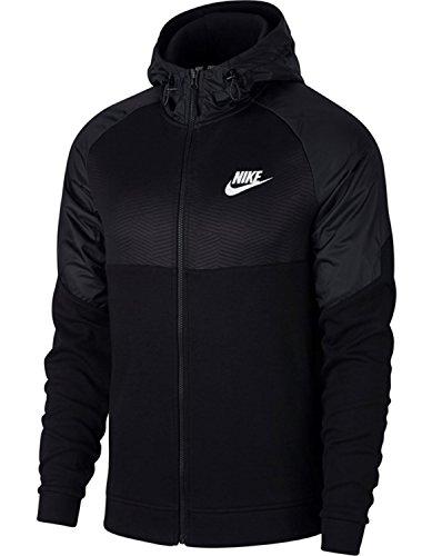 Nike Herren Sportswear Advance 15 Hoodie Fz Ssnl Kapuzenpullover, Black/White, XL (15 Hoodie)