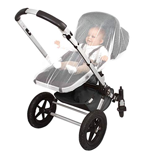 EVEN NATURALS MOSKITONETZ Kinder, XL Mückennetz Baby, feinste Löcher, Insektennetz Reise für Kinderwagen, Buggy, Babytrage, Autositz, Wiege, einfache Anbringung, Tragetasche, Keine Chemikalien (Babytrage Kinderwagen Autositz)