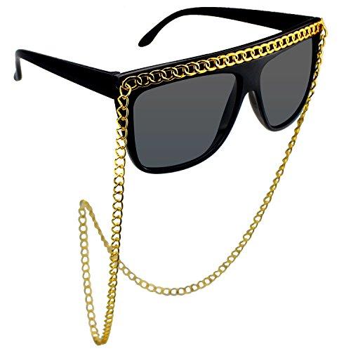 Muskykrafties Requisiten für den Fotoautomaten, Hip Hop Gold Chain Sunglasses, 1-piece