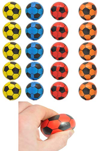 jameitop®⚽ Fußball 20 Stück / weich / Antistress / Softball Mix Farben Ø 4 cm Ball ⚽