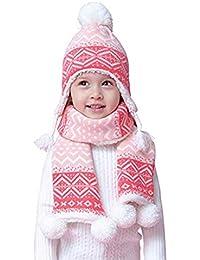 c10244f7a08 Bonnet Tricoté pour Fille Cache-Oreilles