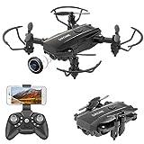 PROACC Mini Drone Pliable avec caméra, Quadricoptère Quadcopter WiFi FPV 1080P avec caméra pour Enfant débutants Adultes (Commande vocale, Maintien de l'altitude, roulement à 360 °, Mode sans tête)