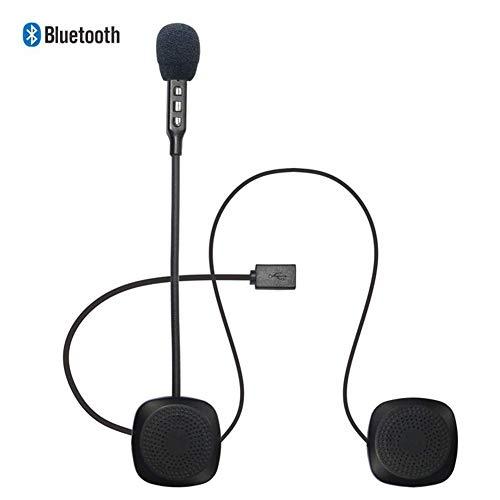 Bluetooth-Helm-Headset, Bluetooth-Headset für Helm, Motorrad-Helmkopfhörer, für Helme Funkkopfhörer mit Mikrofon-Soundsystem für Motorrad