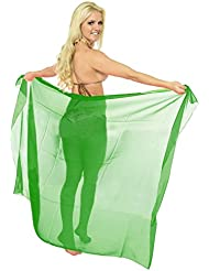 La Leela super léger plaine pure mousseline beachwear 3 en 1 jupe sundress couvrir robe bikini hawaïen cms wrap pareo maillot paréo paréo de 183x107