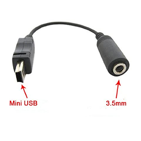 Mini USB to 3.5mm Headphone Jack for Mobile Phone