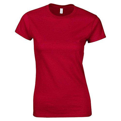 Frauen gesponnene Kurzarm T-Shirt von B & C - 30 Farben verfügbar Cherry Red