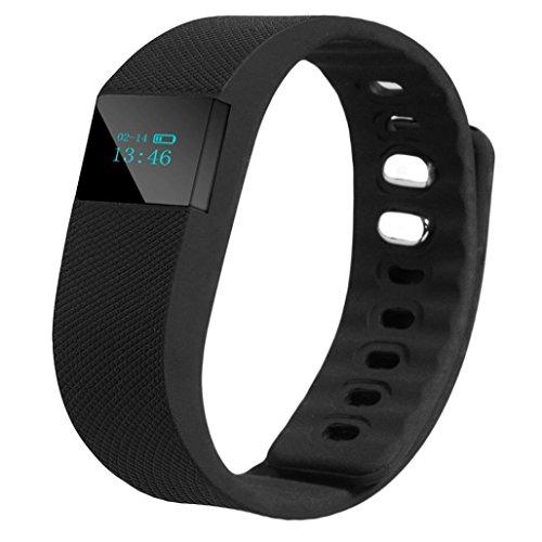 Activity Tracker, Calendario ihee tw643G chiamata ricordare Contapassi Sport Bluetooth orologio da polso bracciale orologio, donna Uomo, Tw64-hea, Black