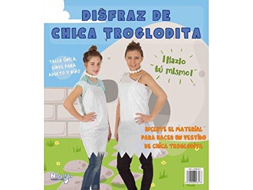 Niefenver 1500104 - Disfraz Bolsa Plástico Troglodita Chica Niefenver