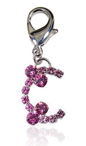 Buddy G Österreichischer Kristall Pink Medium Hund Halsband Charm, Medium, Rose