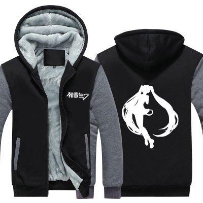 Winter Kapuzenpullover Verdicken Jacke Hoody Cosplay Kostüm Reißverschluss Sweatshirt Mantel Verrücktes Kleid Kleidung