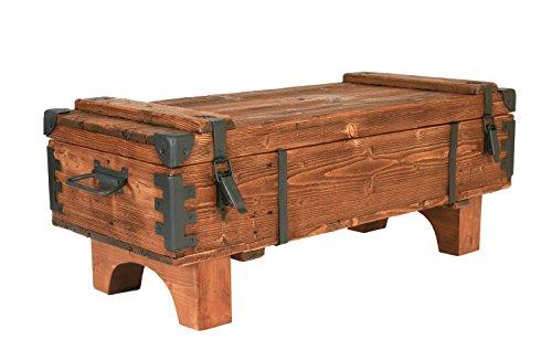 Own Design Table Basse Coffre de Utilisation de Voyage Vieux Pin Vintage Cottage Coffre 39 cm de hauteur/41 cm de profondeur/97 cm de Largeur