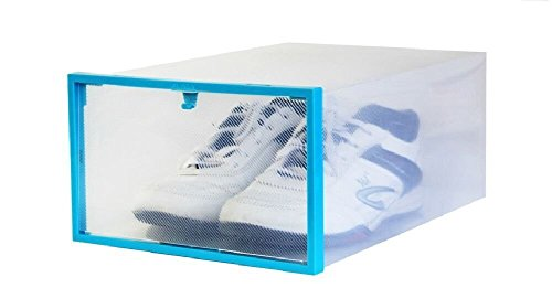 MagnusDeal® Plastic Shoe Organizer Box Set of 2