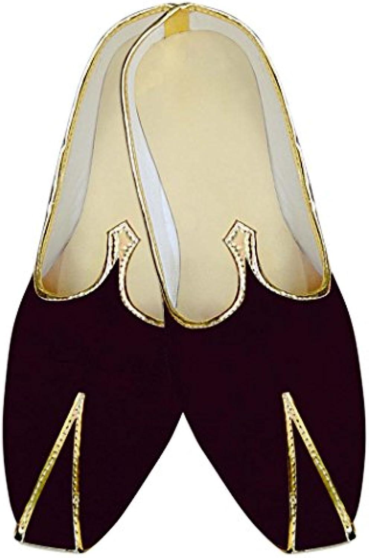 INMONARCH Herren Braun Hochzeit Elegante Schuhe MJ015345