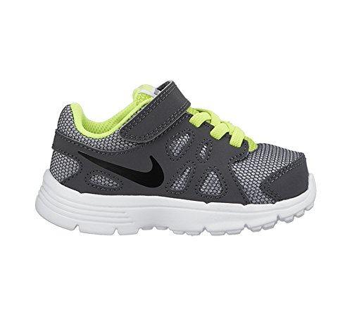 Nike - Revolution 2 Tdv, Scarpine primi passi Bambino Nero/grigio/nero (Wolf Grey/Black-Dark Grey-Blk)