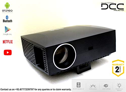 DCC 4K Android F-Series Smart 5500 LUMENS Projector 15000:1 Contrast Ratio (Expandable Upto 300 INCHES)