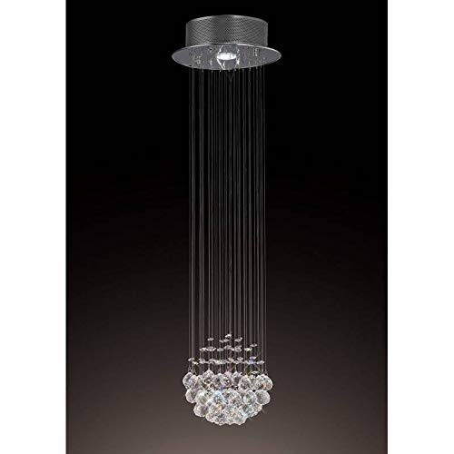 Chrom Poliert 1 Licht Anhänger (Colorado-Cluster, 1 Licht, poliertes Chrom/Kristall)
