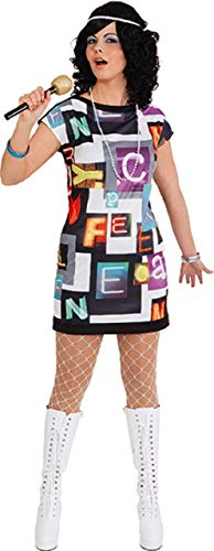 Fancy Me Damen Disco Fever 1970er 190er Hippie Hippie Groovy Soul Zug Karneval Junggesellinnenabschied Party Kostüm Outfit (Groovy Party Supplies)