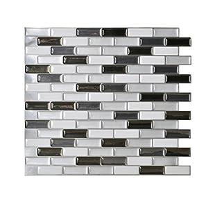 Murano Metalik Wandtattoo / Aufkleber, Fliesen-Design, Gel-O-Technologie, 26x 23cm
