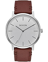 Nixon Porter Leather Silver/Brown Leather Strap Men's Watch A1058-1113