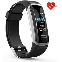 Pulsera Inteligente de Actividad HR, S1 Akuti Pulsera deporte con Monitor de Frecuencia Cardíaca, Monitor de Sueño, Contador de Pasos y Calorías, Pedómetro Impermeable IPX7 para Niños, Mujeres y Hombres