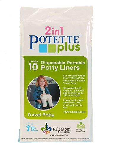 Yoomi Potette Plus, 10 Stück, Einweg-Einlegetüten für mobiles Töpfchen, 10 Einwegtüten