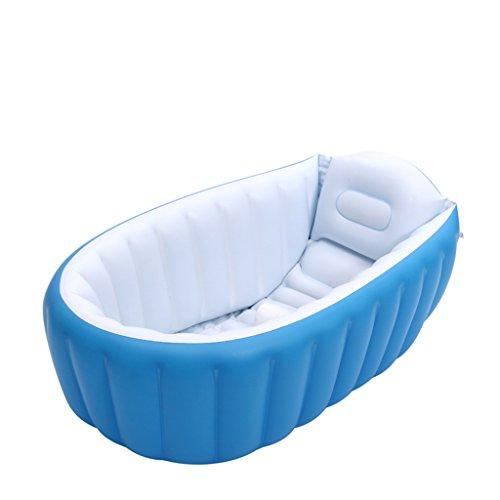 AJZGF Piscina inflable inflable inflable de la piscina inflable Piscina termal más gruesa Piscina plegable de la piscina del océano Patio del agua Bathtub ( Color : Azul )