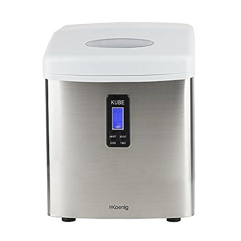 H.Koenig KB15 Eiswürfelmaschine circa 15 kg Eiswürfel pro Tag, 3 Eiswürfelgrößen wählbar,110 watt, (Media Markt Wasserkocher)
