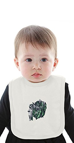 Indigo Thoughts Organic Bib With Ties Medium -