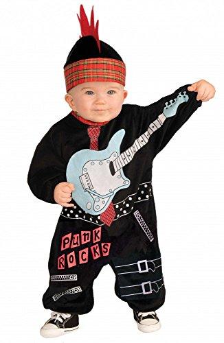 Punk Baby Boy Rock Star Jungen Kostüm für Kleinkinder Kinderkostüm (Boy Kostüme Star Rock)