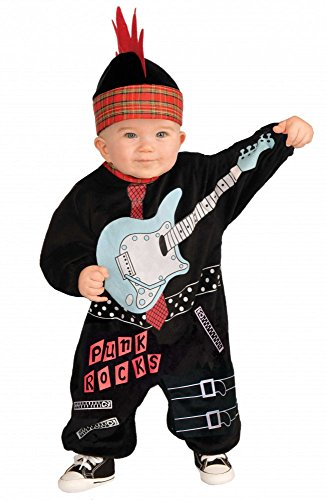 shoperama Punk Baby Boy Rock Star Jungen Kostüm für Kleinkinder Kinderkostüm - Boy Rock Star Kostüm