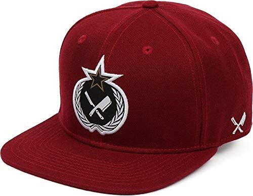 Preisvergleich Produktbild Distorted People Barber & Butcher Russian Blades Burgundy Red Snapback Cap Basecap OSFA One Size
