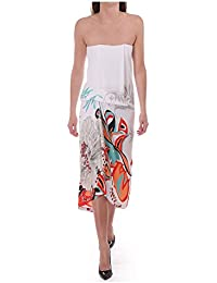 Kevan Jon Brianna Strapless Floral Dress White
